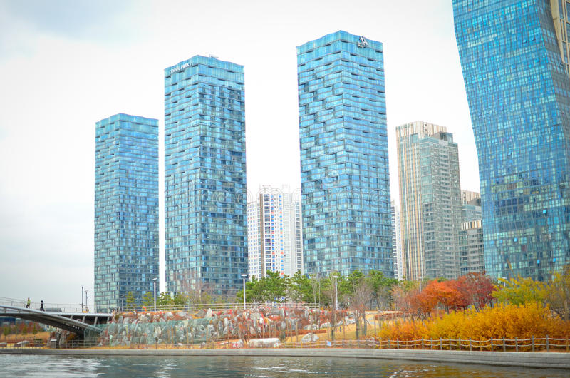 Songdo International Business District stock photography