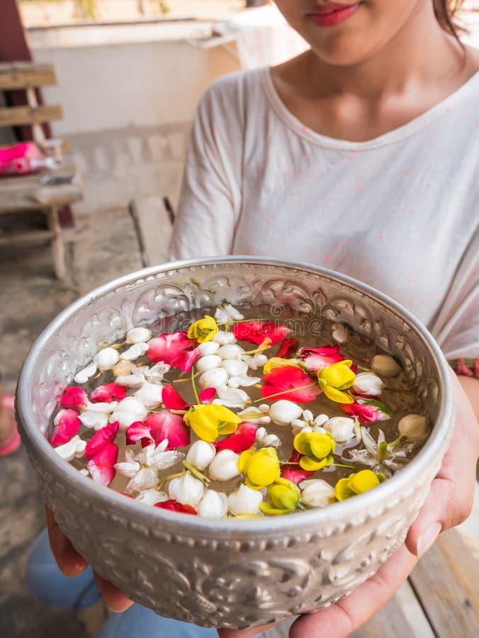 Songkarn festival i Thailand arkivfoto