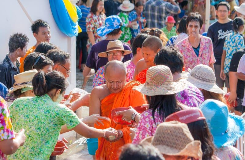 Songkran节日泰国微笑 免版税库存照片