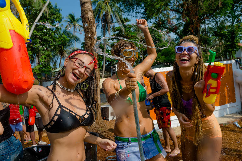 Songkran lizenzfreies stockbild