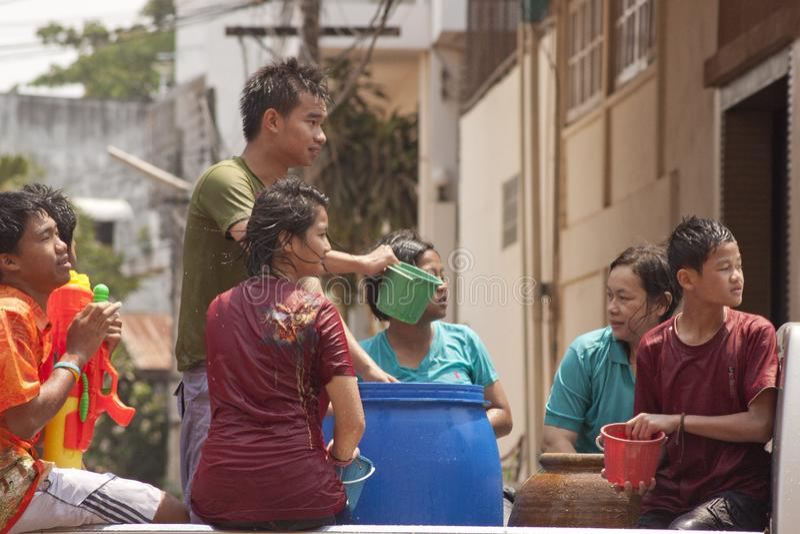 Songkran dans Udon Thani image stock