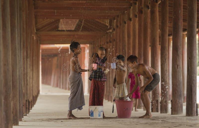 Songkran di Salay, Myanmar fotografie stock libere da diritti