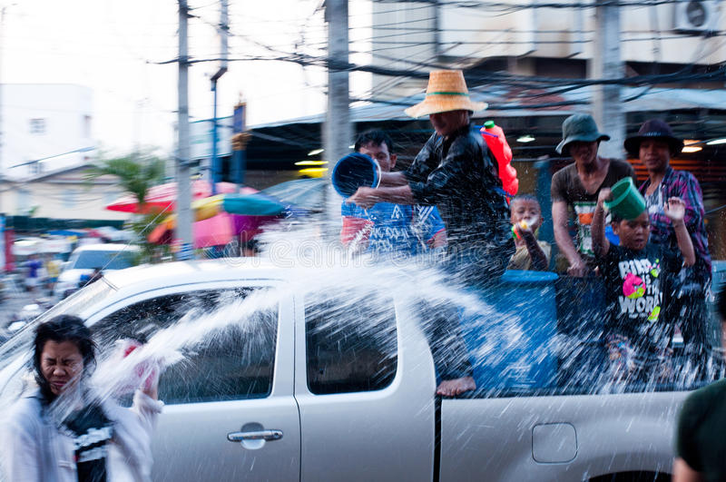 Download Songkran Festival editorial photography. Image of chaos - 24314597