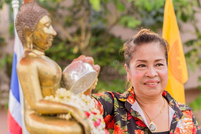 Songkran festival royaltyfri bild