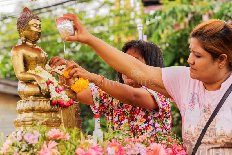 Songkran festival royaltyfria foton