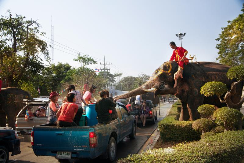 Songkran festival royaltyfri fotografi