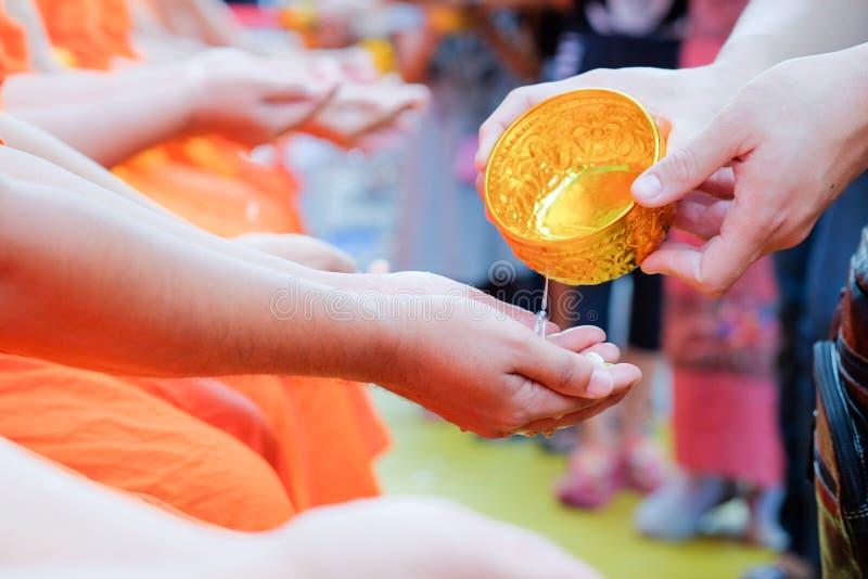 Songkran festival. Songkran is new year of Thailand stock photography