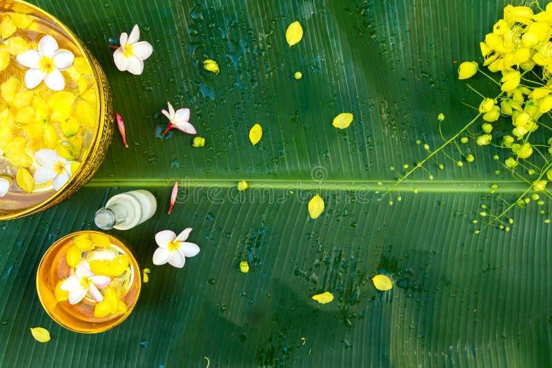 Songkran Festival or Thai New Year. stock photos