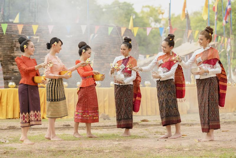 Songkran festiwal fotografia royalty free