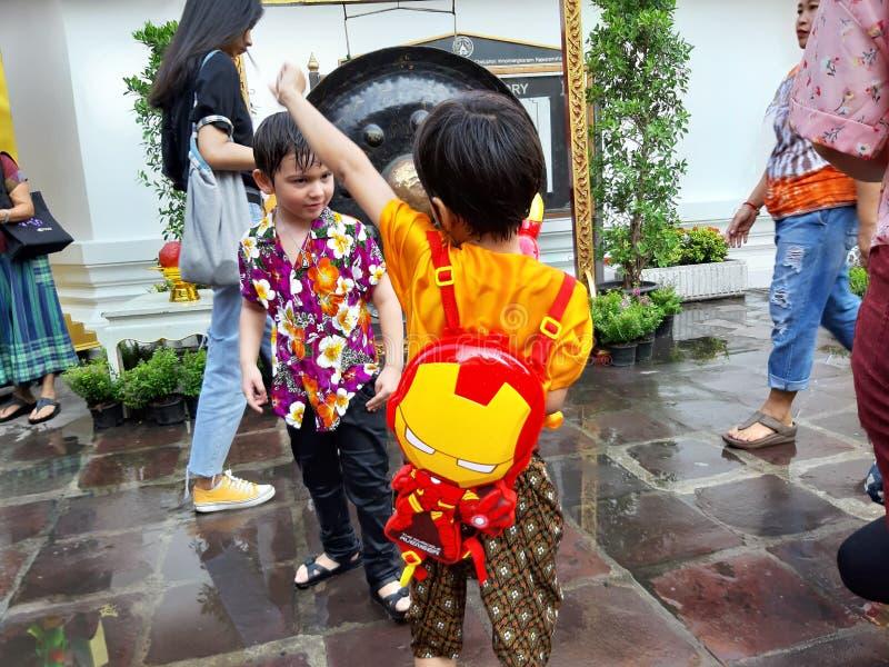 Songkran festiwal w Tajlandia, buddyjski motyw obrazy royalty free