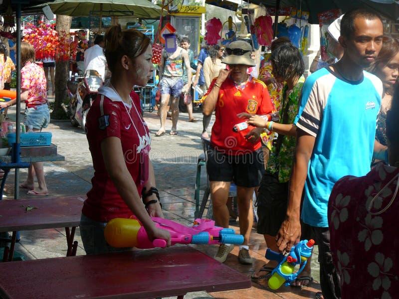 Songkran nouvelle année célébration 12-16 avril thaïlandais photo stock