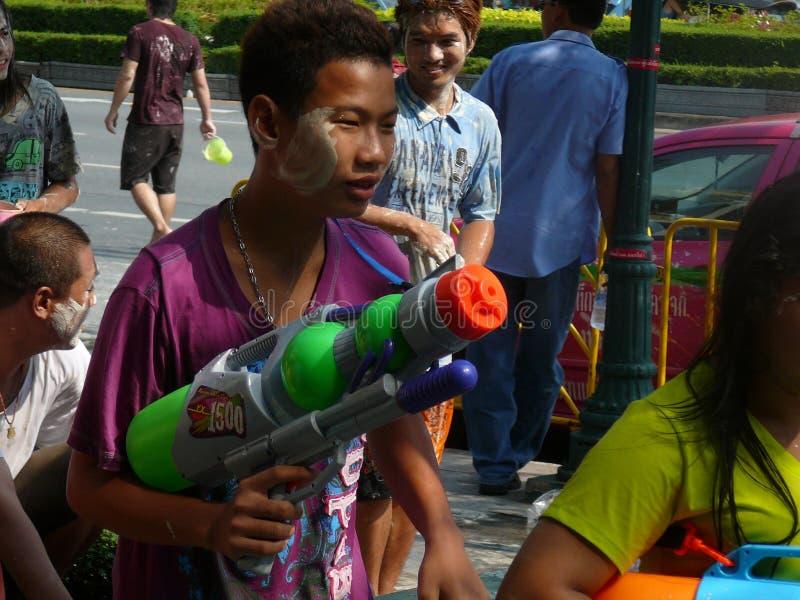 Songkran nouvelle année célébration 12-16 avril thaïlandais images libres de droits