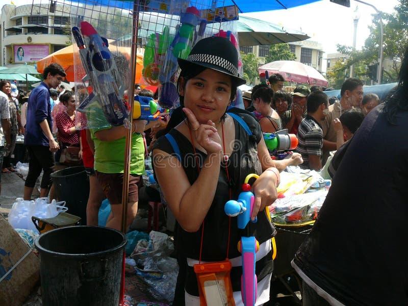 Songkran nouvelle année célébration 12-16 avril thaïlandais photographie stock