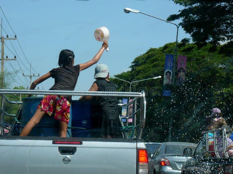 Songkran nouvelle année célébration 12-16 avril thaïlandais photos stock
