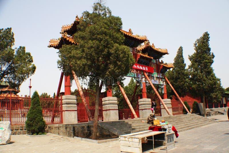 Songshan Zhong Yue Temple fotografie stock libere da diritti