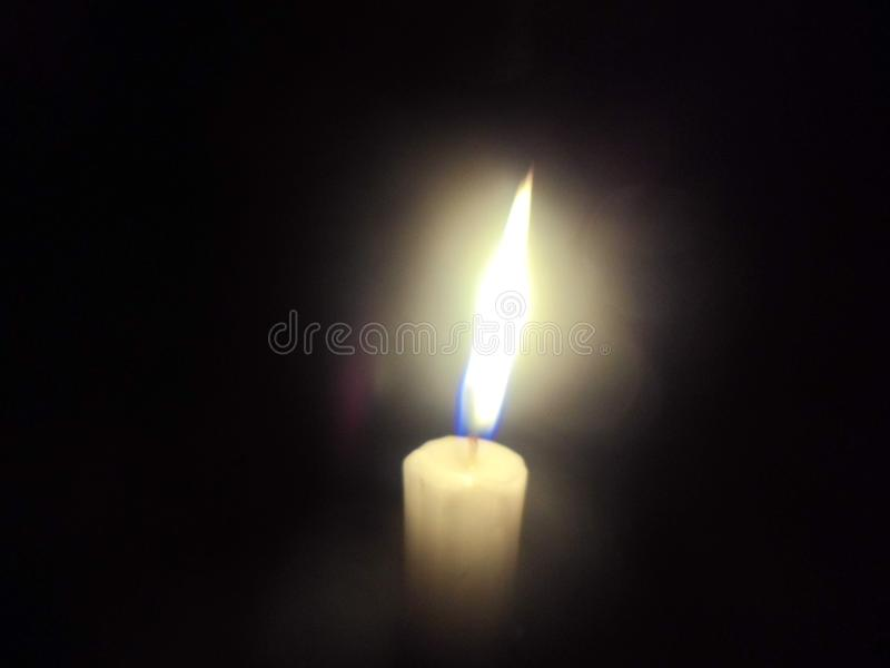 The songwriter singing about a candle in the wind stock photo