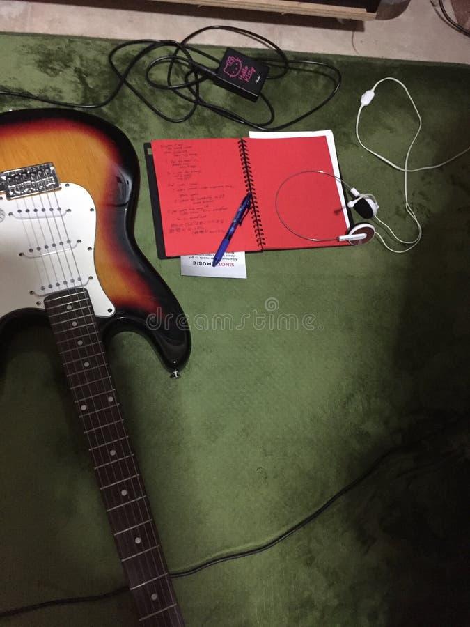 Songwriting proces zdjęcie stock