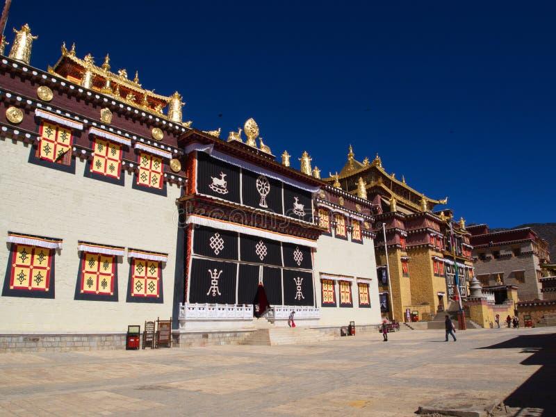 Songzanlin Lama Tibetan Temple en Zhongdian o ciudad del La de Shangli imagenes de archivo
