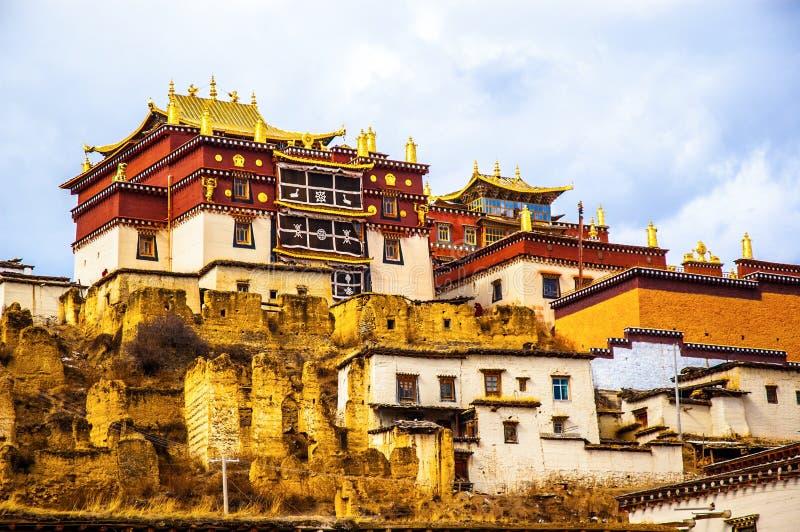 Songzanlin-Lamasery von Yunnan stockfotos