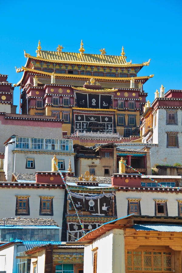 Songzanlin Monastery at Shangr-la, Yunnan China royalty free stock images