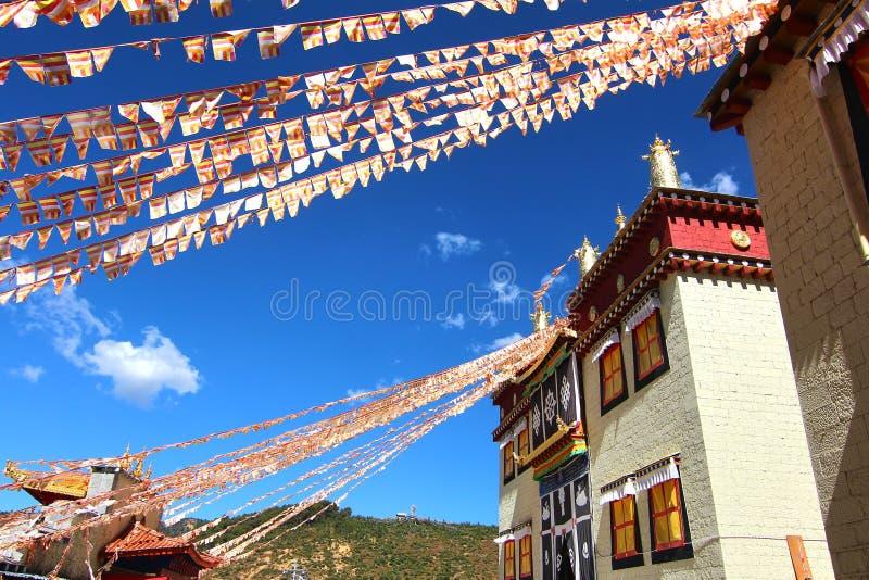 Songzanlin-Tempel alias das Kloster Ganden Sumtseling, ist ein tibetanisches buddhistisches Kloster in Zhongdian-Stadt (Shangri-L stockfoto