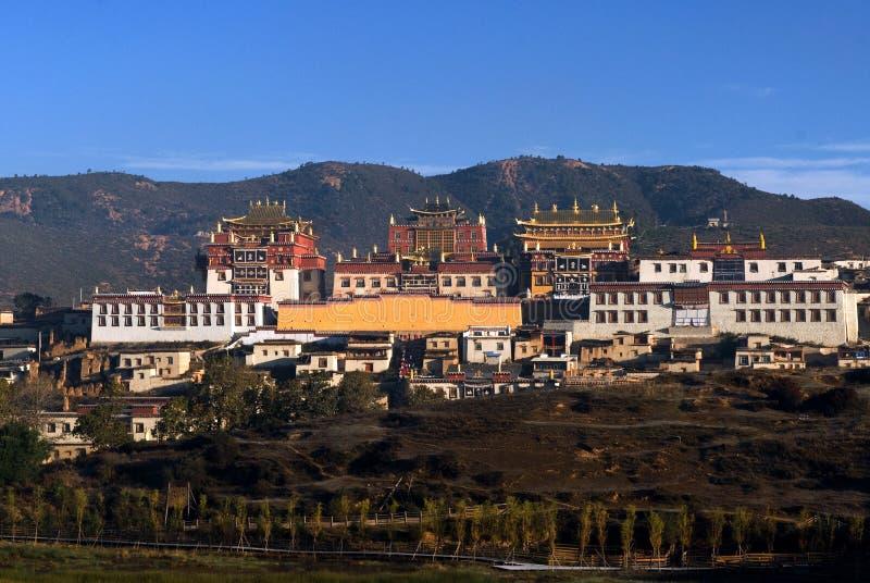 Songzanlin Temple. Songzanlin Lamasery in shangri-la of yunnan china royalty free stock images