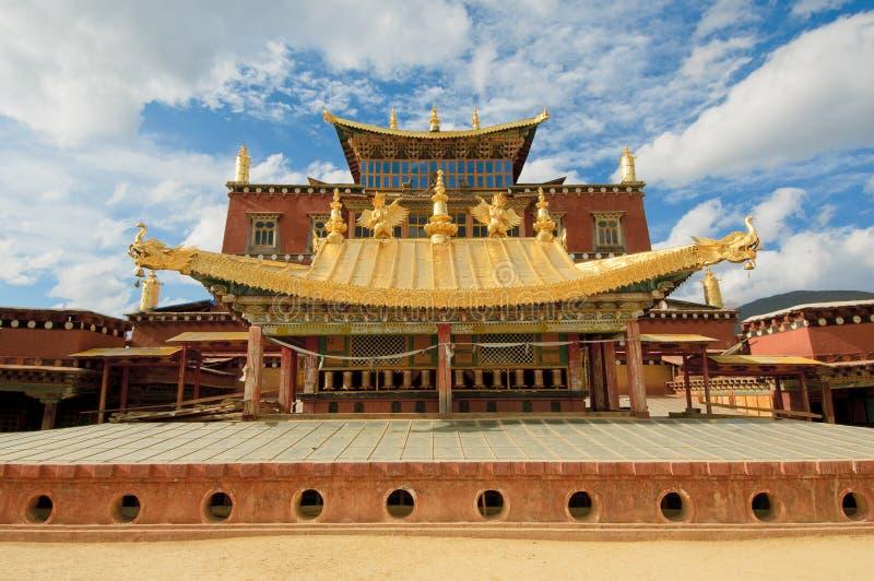 Songzanlin tibetan kloster, shangri-la, porslin fotografering för bildbyråer