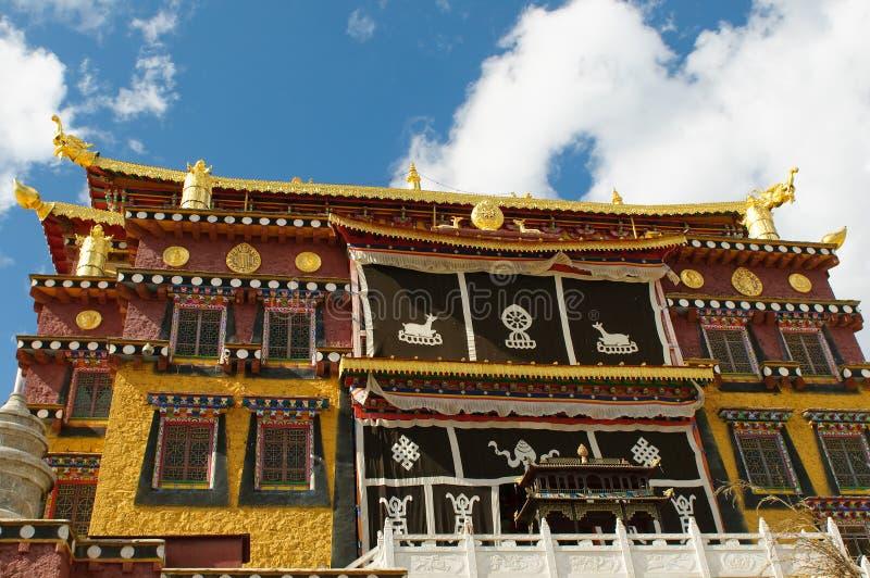 Songzanlin tibetan kloster, shangri-la, porslin arkivbild