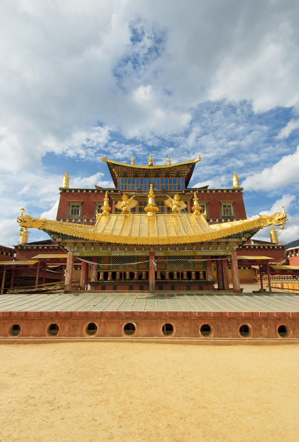 Songzanlin tibetan kloster, shangri-la, porslin royaltyfria foton