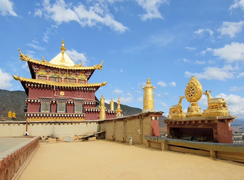 Songzanlin tibetan monastery, shangri-la, china. Songzanlin tibetan monastery, lamasery, shangri-la, china royalty free stock photography