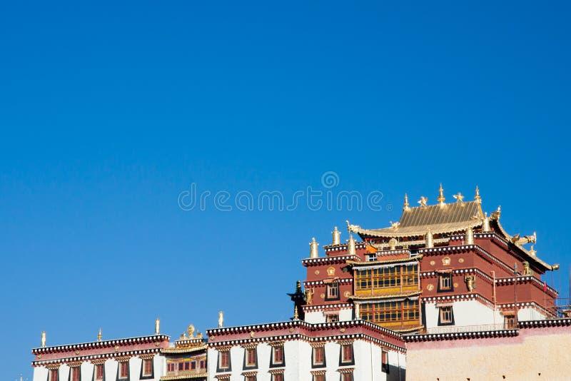 Songzanlin, Tibetan monastery in Shangrila city, Yunnan province royalty free stock image