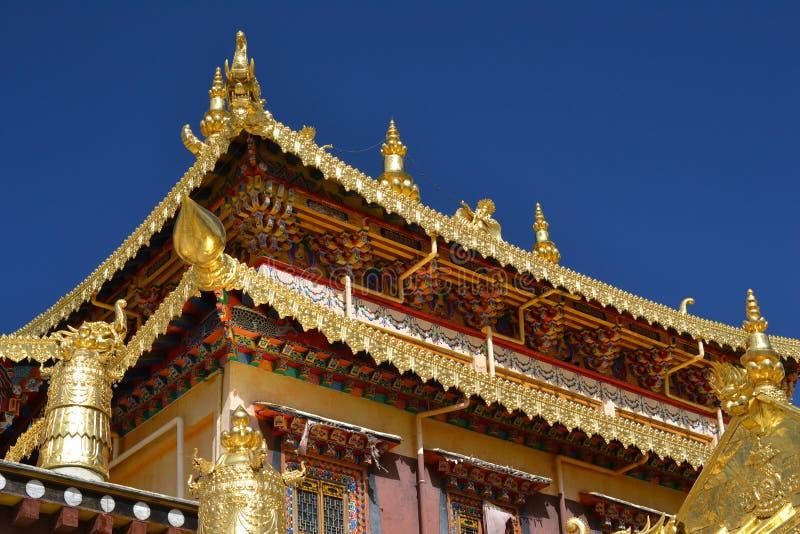 Songzanlin Tybetański Buddyjski monaster, Shangri los angeles, Xianggelila, Yunnan prowincja, Chiny zdjęcie stock
