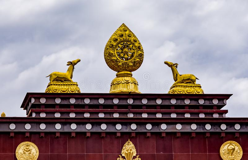 Songzanlin Tybetański Buddyjski monaster, Zhongdian Yunnan, Chiny, - obraz stock