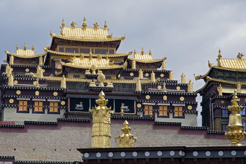 Songzanlin Tybetański Buddyjski monaster, Zhongdian Yunnan, Chiny, - zdjęcia stock