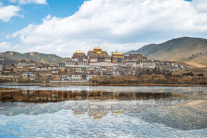 Songzanlin - Tybetański monaster w Shangrila, Yunnan, Chiny obraz stock