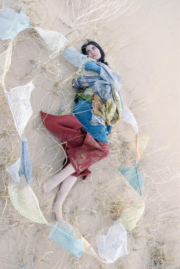 Sonhador da oração fotografia de stock