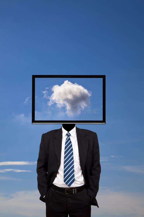 Sonhador e nuvem do negócio imagem de stock