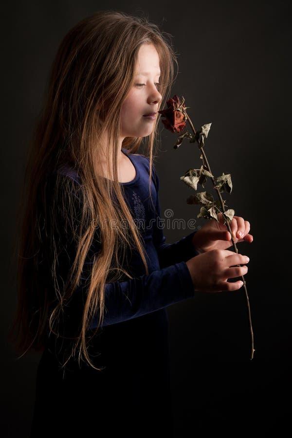 Sonhando a menina imagem de stock