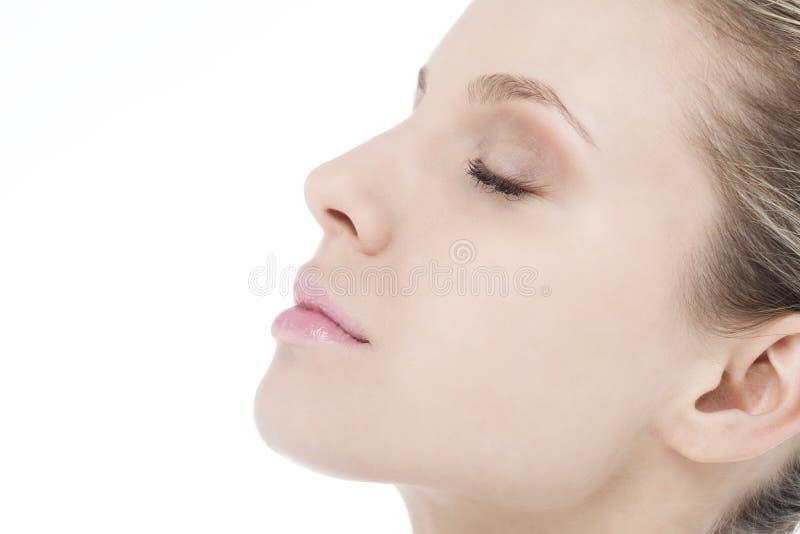 Sonhando a mulher foto de stock