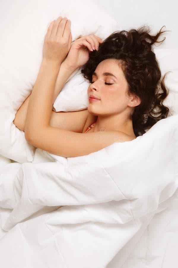 Sonhando a mulher fotos de stock royalty free