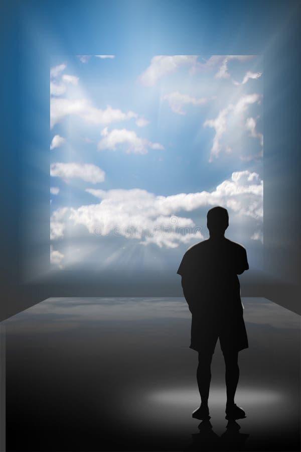 Sonhando a tela da visão de A ilustração do vetor