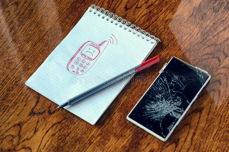 Sonhe, desejo do visualização, precise um conceito novo do telefone fotos de stock