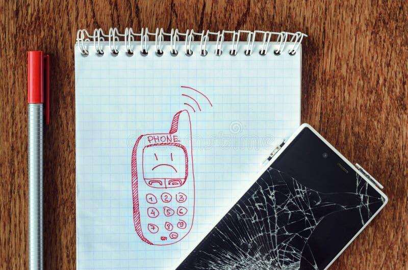 Sonhe, desejo do visualização, precise um conceito novo do telefone imagens de stock royalty free