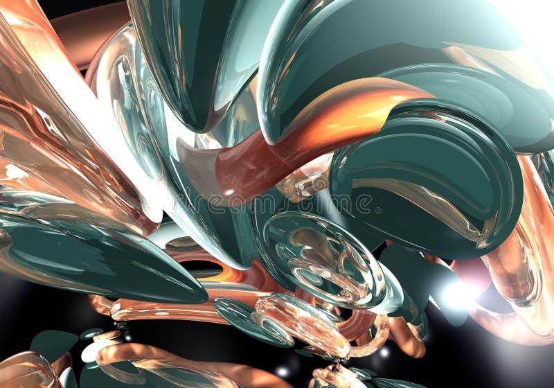 Sonho 01 de Green&orange ilustração do vetor