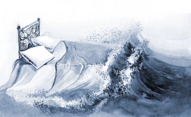 Sonho ilustração do vetor