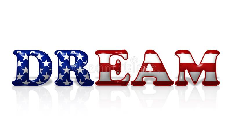 Sonho americano ilustração stock