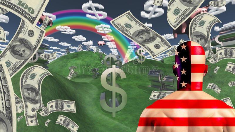 Sonho americano ilustração royalty free