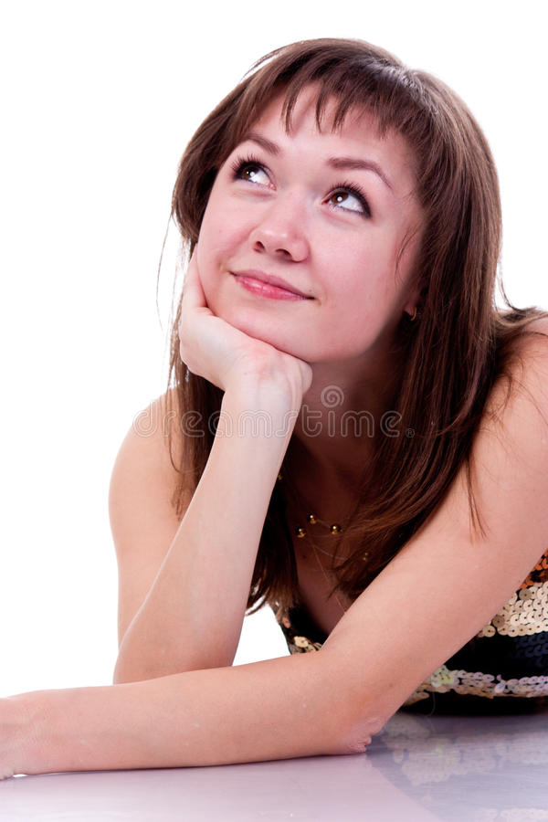 Sonho bonito da rapariga fotografia de stock royalty free