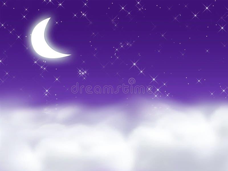 Sonho da meia-noite ilustração stock