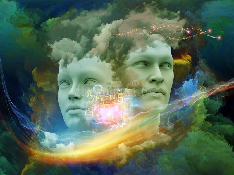 Sonho da mente ilustração do vetor